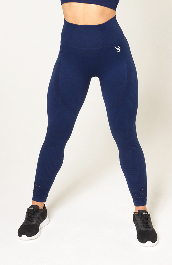 Contour Seamless Leggings - Navy