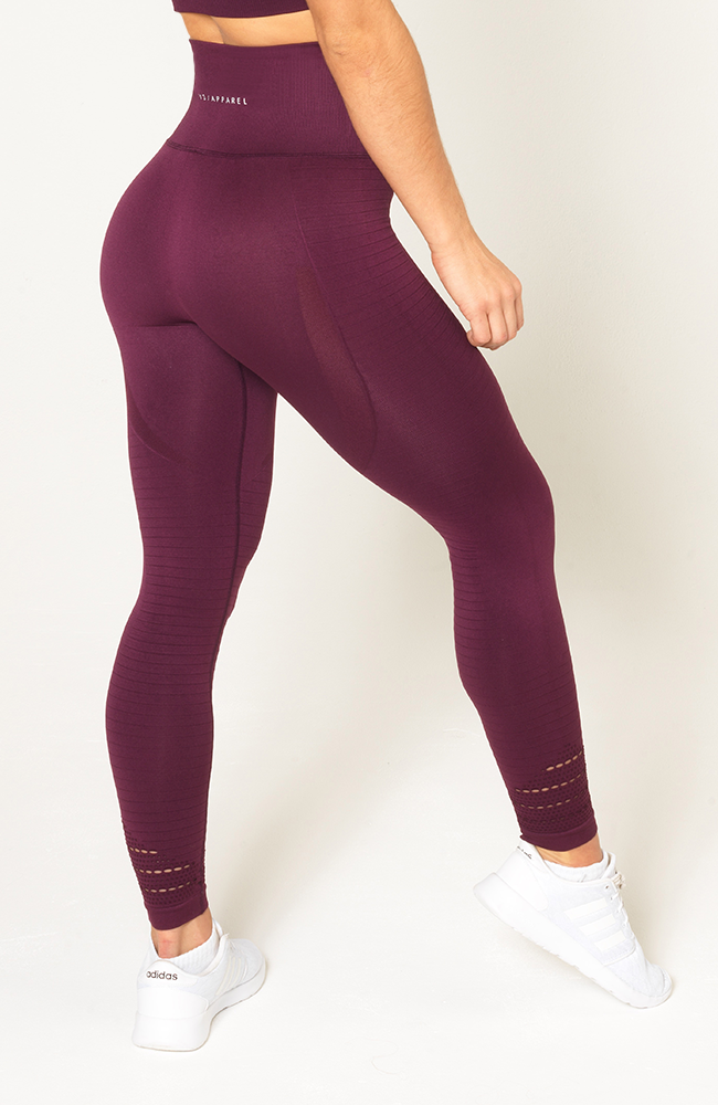 Contour Seamless Leggings - Wine