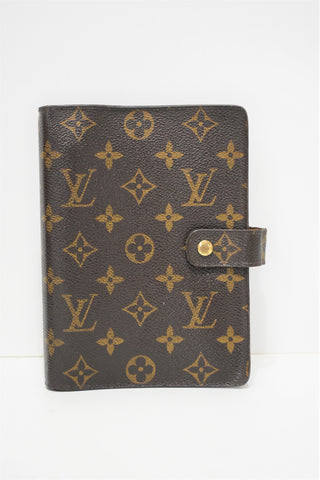 Louis Vuitton, Couverture Agenda MM en toile enduite monogram