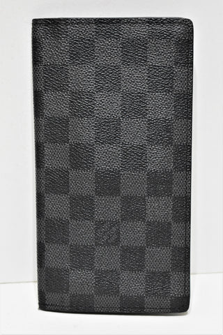 "Louis Vuitton, "" Portefeuille long "" en toile enduite damier graphite"