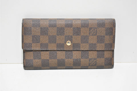 Louis Vuitton, Portefeuille INTERNATIONAL, en toile enduite damier ébène