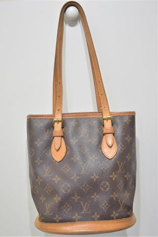 Louis Vuitton, Sac Bucket PM en toile monogram