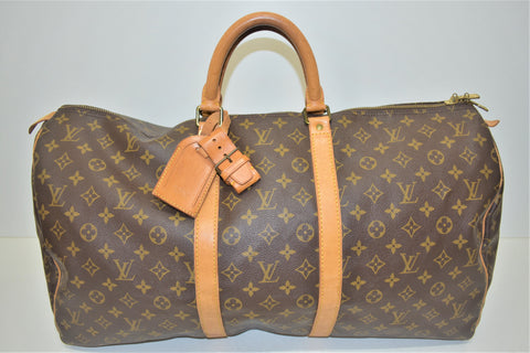 Louis Vuitton, Sac week-end KEEPALL 55, en toile monogram