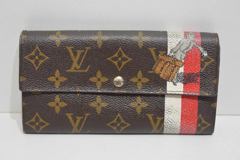 Louis Vuitton, Rare Portefeuille SARAH version Groom, en toile monogram