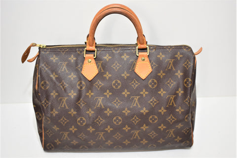 Louis Vuitton, Sac speedy 35 en toile monogram