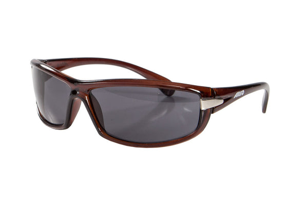 Areo Lizard Sunglasses / Dark Brown