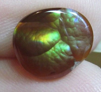 Freeform Natural Multicolored MEXICAN Fire Agate Gemstone 9x8