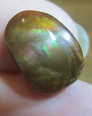 Tumbled Freeform Natural Multicolored MEXICAN Fire Agate Gemstone 14x10