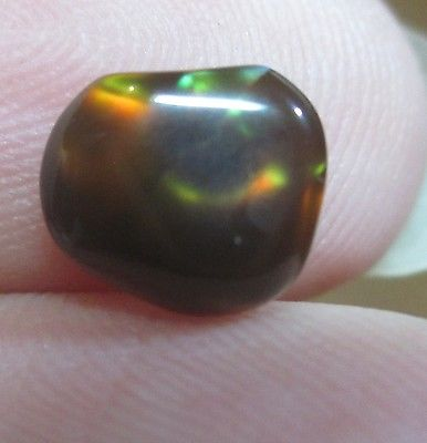 Freeform Natural Multicolored MEXICAN Fire Agate Gemstone 7x6