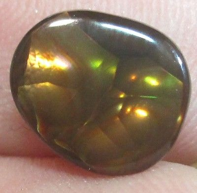 MEXICAN Fire Agate Gemstone Free form Natural Multicolored 8x7