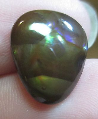 Freeform Natural Multicolored MEXICAN Fire Agate Gemstone 13x11