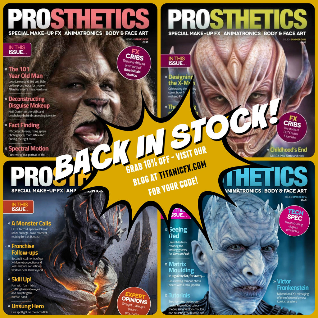 Full Collection of The Prosthetics Magazine now available (Limited Edition Discount Code within!)  while stocks last