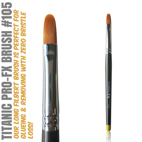 Titanic Pro-FX Brush # 105 Long Filbert Brush
