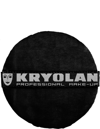 Kryolan Premium Powder Puff - Black - 8CM, Powder Puffs, Kryolan, Titanic FX Store, Titanic FX Store, Prosthetic, Makeup, MUA, SFX, FX Makeup, Belfast, UK, Europe, Northern Ireland, NI