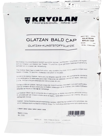 Kryolan - Glatzan Bald Cap (un-coloured) (Small & Large), Bald Caps, Kryolan, Titanic FX, Titanic FX Store, Prosthetic, Makeup, MUA, SFX, FX Makeup, Belfast, UK, Europe, Northern Ireland, NI