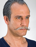 Kryolan - Poirot Moustache (3 Colour Options) (9217), Wig Making, Kryolan, Titanic FX, Titanic FX Store, Prosthetic, Makeup, MUA, SFX, FX Makeup, Belfast, UK, Europe, Northern Ireland, NI