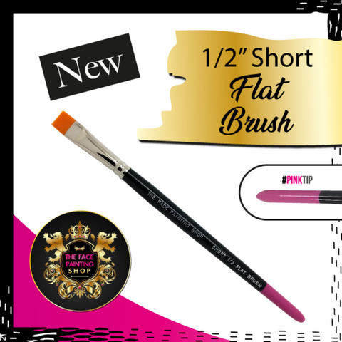The Face Painting Shop 1/2 Inch Short Flat Brush