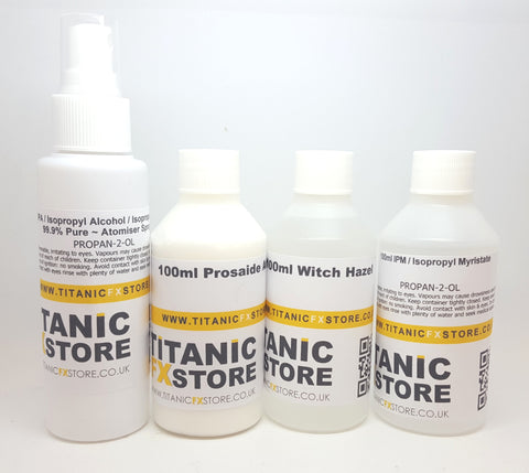 4 - Piece Gelatin Application & Removal Kit, Kit, Titanic FX, Titanic FX, Titanic FX Store, Prosthetic, Makeup, MUA, SFX, FX Makeup, Belfast, UK, Europe, Northern Ireland, NI
