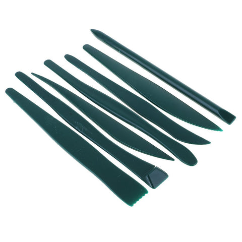 7 Piece Plastic Sculpting Tools - Lightweight & easy to clean