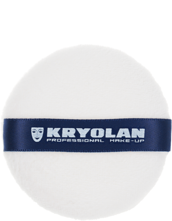 Kryolan Powder Puff - White - 7cm, Powder Puffs, Kryolan, Titanic FX Store, Titanic FX Store, Prosthetic, Makeup, MUA, SFX, FX Makeup, Belfast, UK, Europe, Northern Ireland, NI