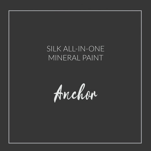 Dixie Belle Paint | Anchor | Jet Black | Silk All-in-one Mineral Paint | 16oz/473ml