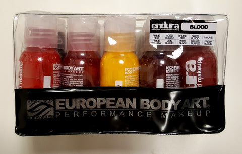 European Body Art - Endura Blood - Alcohol Activated - Perfect for Airbrushing, Paints, European Body Art, Titanic FX, Titanic FX Store, Prosthetic, Makeup, MUA, SFX, FX Makeup, Belfast, UK, Europe, Northern Ireland, NI