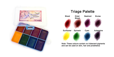 BluebirdFX Triage (8 colour palette), Paints, Titanic FX, Titanic FX, Titanic FX Store, Prosthetic, Makeup, MUA, SFX, FX Makeup, Belfast, UK, Europe, Northern Ireland, NI