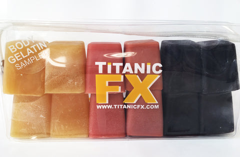 Titanic FX Prosthetic Gelatin - Body Colours Sample Pack - Includes Blood, Muscle & Fat tones (1KG), SFX Materials, Titanic FX, Titanic FX Store, Titanic FX Store, Titanic Creative, Prosthetic, Makeup, MUA, SFX, FX Makeup, Belfast, UK, Europe, Northern Ireland, NI