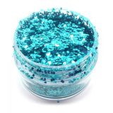 'Aqua' Chunky Glitter - The Facepainting Shop, Glitter, The Facepainting Shop, Titanic FX Store, Titanic FX Store, Prosthetic, Makeup, MUA, SFX, FX Makeup, Belfast, UK, Europe, Northern Ireland, NI