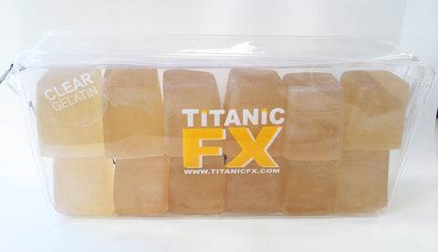Titanic FX Prosthetic Gelatin - Available in a range of colours & sizes, SFX Materials, Titanic FX, Titanic FX, Titanic FX Store, Prosthetic, Makeup, MUA, SFX, FX Makeup, Belfast, UK, Europe, Northern Ireland, NI