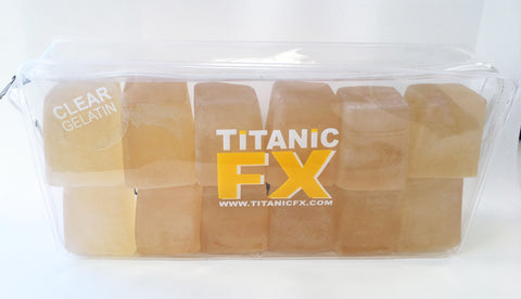 Titanic FX Prosthetic Gelatin - Clear/Un-Coloured (1KG), SFX Materials, Titanic FX, Titanic FX Store, Titanic FX Store, Titanic Creative, Prosthetic, Makeup, MUA, SFX, FX Makeup, Belfast, UK, Europe, Northern Ireland, NI