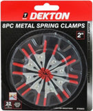 "Dekton | 8PC 2"" Metal Spring Clamps"