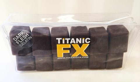 Titanic FX Prosthetic Gelatin - Dark Flesh Colour (1KG), SFX Materials, Titanic FX, Titanic FX Store, Titanic FX Store, Titanic Creative, Prosthetic, Makeup, MUA, SFX, FX Makeup, Belfast, UK, Europe, Northern Ireland, NI