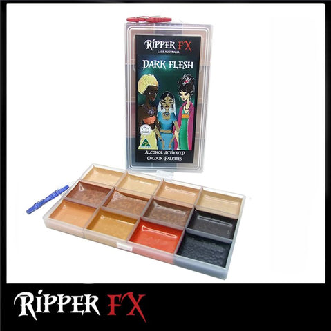 Ripper FX - 'Dark Flesh' Large Alcohol Palette, Paints, European Body Art, Titanic FX, Titanic FX Store, Prosthetic, Makeup, MUA, SFX, FX Makeup, Belfast, UK, Europe, Northern Ireland, NI
