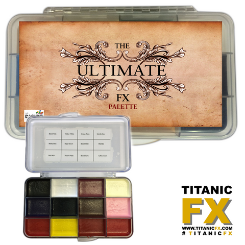 Dashbo FX - The Ultimate FX Palette, Paints, Dashbo, Titanic FX, Titanic FX Store, Prosthetic, Makeup, MUA, SFX, FX Makeup, Belfast, UK, Europe, Northern Ireland, NI