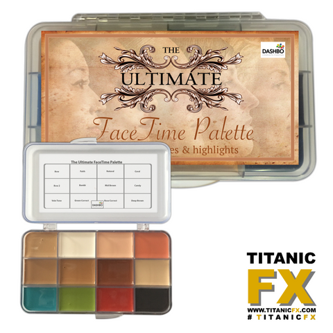 Dashbo FX - The Ultimate Facetime Palette, Paints, Dashbo, Titanic FX, Titanic FX Store, Prosthetic, Makeup, MUA, SFX, FX Makeup, Belfast, UK, Europe, Northern Ireland, NI