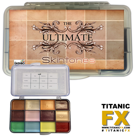Dashbo FX - The Ultimate Skintones Palette, Paints, Dashbo, Titanic FX, Titanic FX Store, Prosthetic, Makeup, MUA, SFX, FX Makeup, Belfast, UK, Europe, Northern Ireland, NI
