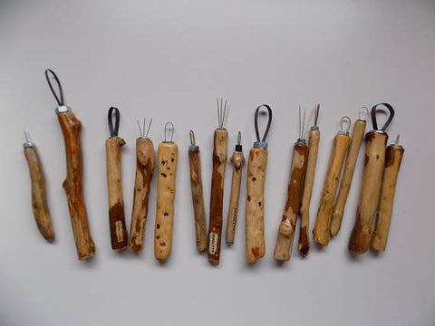 Beautiful Hand-Crafted (Set of 4) Wooden Sculpting Tools, Tools, Deadly FX, Titanic FX Store, Titanic FX Store, Titanic Creative, Prosthetic, Makeup, MUA, SFX, FX Makeup, Belfast, UK, Europe, Northern Ireland, NI