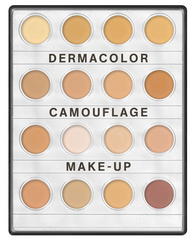 Kryolan Dermacolour Camouflage Creme Mini Palette - 16 Colours (Fair / Med / Dark)
