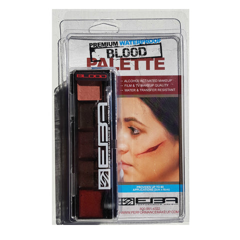 Encore Slim Palette - Blood - Complete with activator & accessories - Europoean Body Art - Titanic FX - UK