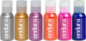 European Body Art - Endura Fluro Metallic (6-Pack) - Alcohol Activated, Paints, European Body Art, Titanic FX, Titanic FX Store, Prosthetic, Makeup, MUA, SFX, FX Makeup, Belfast, UK, Europe, Northern Ireland, NI