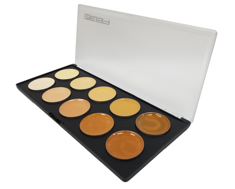 Evo Cream Palette - Skin (Light to Dark) - Water & Transfer Resistant! - European Body Art, Paints, European Body Art, Titanic FX, Titanic FX Store, Prosthetic, Makeup, MUA, SFX, FX Makeup, Belfast, UK, Europe, Northern Ireland, NI