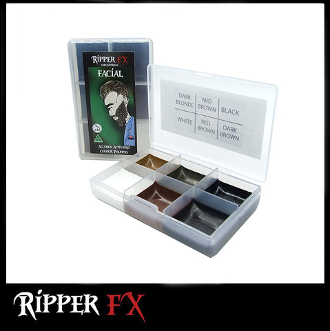 Ripper FX - 'Facial' Mini Pocket Alcohol Palette, Paints, Ripper FX, Titanic FX, Titanic FX Store, Prosthetic, Makeup, MUA, SFX, FX Makeup, Belfast, UK, Europe, Northern Ireland, NI