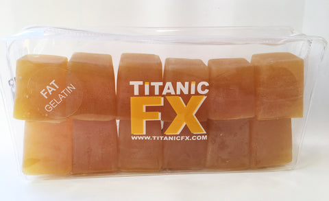 Titanic FX Prosthetic Gelatin - Fat Colour (1KG), SFX Materials, Titanic FX, Titanic FX Store, Titanic FX Store, Prosthetic, Makeup, MUA, SFX, FX Makeup, Belfast, UK, Europe, Northern Ireland, NI