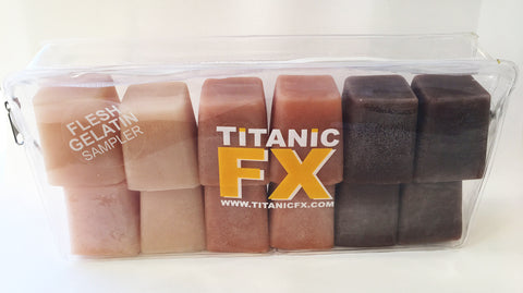 Titanic FX Prosthetic Gelatin - Flesh Tone Sample Pack - Includes Light, Medium & Dark Flesh (1KG), SFX Materials, Titanic FX, Titanic FX Store, Titanic FX Store, Titanic Creative, Prosthetic, Makeup, MUA, SFX, FX Makeup, Belfast, UK, Europe, Northern Ireland, NI