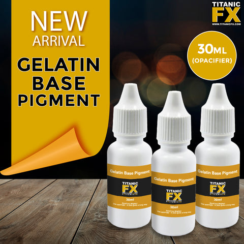 NEW! Gelatin Base Pigment (Opacifier) - 30ml, Pigments, Titanic, Titanic FX, Titanic FX Store, Prosthetic, Makeup, MUA, SFX, FX Makeup, Belfast, UK, Europe, Northern Ireland, NI