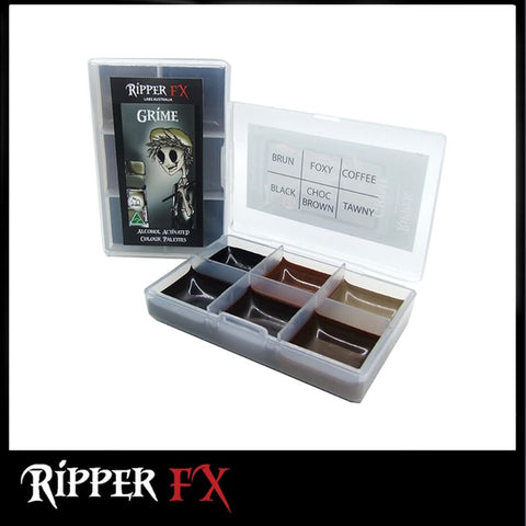Ripper FX - 'Grime' Mini Pocket Alcohol Palette, Paints, Ripper FX, Titanic FX, Titanic FX Store, Prosthetic, Makeup, MUA, SFX, FX Makeup, Belfast, UK, Europe, Northern Ireland, NI