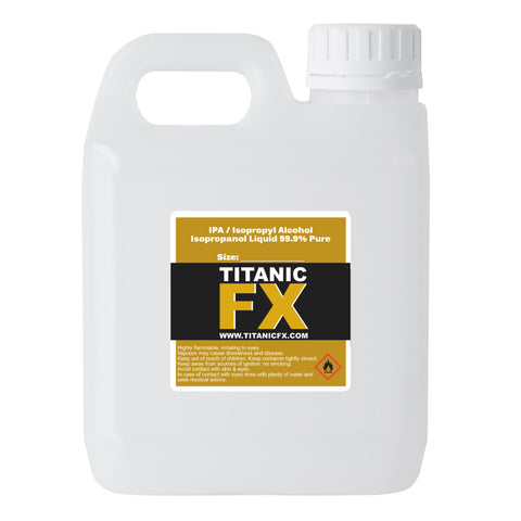 99.9% Isopropyl Alcohol (IPA), Materials, Titanic FX, Titanic FX, Titanic FX Store, Prosthetic, Makeup, MUA, SFX, FX Makeup, Belfast, UK, Europe, Northern Ireland, NI