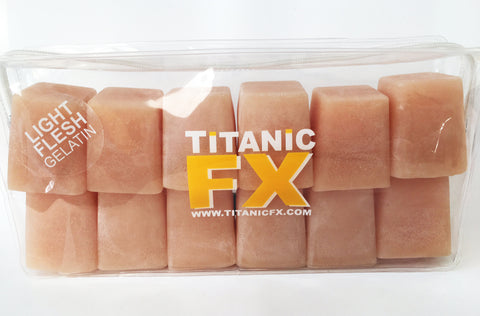 Titanic FX Prosthetic Gelatin - Light Flesh Colour (1KG), SFX Materials, Titanic FX, Titanic FX Store, Titanic FX Store, Titanic Creative, Prosthetic, Makeup, MUA, SFX, FX Makeup, Belfast, UK, Europe, Northern Ireland, NI