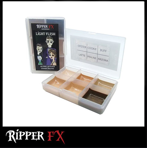 Ripper FX - 'Light Flesh' Mini Pocket Alcohol Palette, Paints, Ripper FX, Titanic FX, Titanic FX Store, Prosthetic, Makeup, MUA, SFX, FX Makeup, Belfast, UK, Europe, Northern Ireland, NI